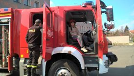 Wycieczka do siedziby Państwowej Powiatowej Komendy Straży Pożarnej